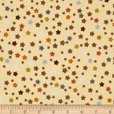 Love Me Teddy Bear Stars Beige from @fabricdotcom  Designed for Exclusively Quilters, this cotton print fabric is perfect for quilting, apparel and home decor accents. Colors include orange, mocha, white, grey, and mustard on a cream background.