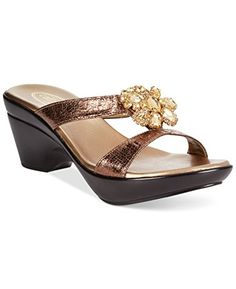 c085644aee6 Callisto Adelai Bronze Wedge Sandals size 7M     To view further for this  item