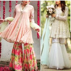 #gharara #pakistani #dress #fashion #style India Fashion, Ethnic Fashion, Indian Designer Outfits, Designer Dresses, Pakistani Bridal, Pakistani Gharara, Sharara, Anarkali, Gharara Designs