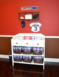 Baseball Baby Nursery- but have to change it to The Yankees!