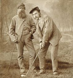 Golf pros of the 1860's - Old Tom Morris and Young Tom Morris. Love Golf? Join the Honourable Society of Golf Fanatics. You'll Love Us! http://golffanatics.org (Scroll to the bottom of the home page and sign up for our Blog)