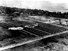 US 2nd Marine Division cemetery, Tinian, Mariana Islands, Aug 1944