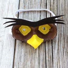 Owl-Inspired Egg Carton Mask