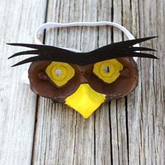 Owl-Inspired Egg Carton Mask