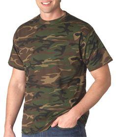 3f655817 Camouflage Cotton T-Shirt. 4.9 oz., 100% preshrunk ringspun cotton jersey