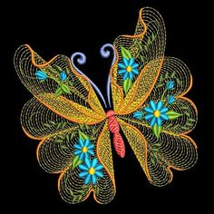 FLUTTERBY LUV 2 6 inch 10 Machine Embroidery Designs