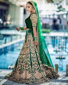 Unique And Trendy Bridal Lehenga Colours For This Wedding Season Designer Bridal Lehenga, Indian Bridal Lehenga, Indian Bridal Outfits, Pakistani Bridal Dresses, Pakistani Dress Design, Dress Indian Style, Indian Fashion Dresses, Fashion Outfits, Glam Look