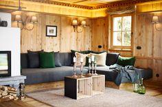 Innenansicht des Luxus Chalet Sporer Alm im Zillertal