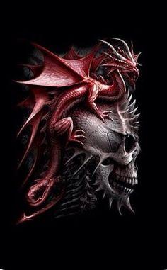 Tattoo dragon skull fantasy art 23 New Ideas Fantasy Dragon, Dragon Art, Fantasy Art, The Crow, Deviant Art, Fantasy Creatures, Mythical Creatures, Dragon Tattoo With Skull, Dragon Tattoos