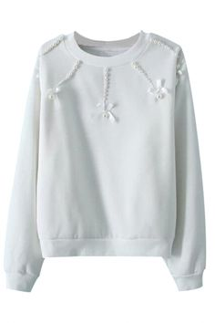 Beaded Clusters Long Sleeves Sweatshirt