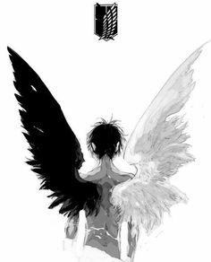 art Black and White sad anime manga boy monochrome guy cry angel anime art anime boy snk shingeki no kyojin anime cry anime guy anime sad anime angel anime black and white Otaku Anime, M Anime, Dark Anime, Anime Boys, Anime Art, Anime Angel, Tatoo Manga, Anime Tumblr, Ange Demon