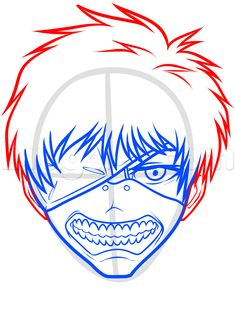how to draw kaneki ken from tokyo ghoul step 6 Tokyo Ghoul Drawing, Christmas Sketch, What To Draw, Step By Step Drawing, Rainbow, Animation, Fan Art, Manga, Drawings