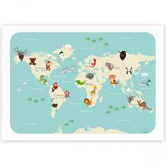 Affiche A4 Le monde des animaux : Kanzilue - Berceau Magique
