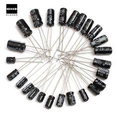 Electrolytic Capacitors Assortment 0.1uF~220uF, 210Pcs 25 Value