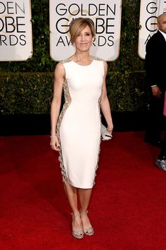 2015 Golden Globes Glamour! See the Best Dresses on the Red Carpet: Felicity Huffman