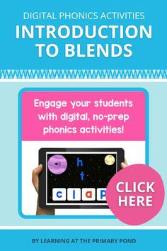Help your students learn about beginning blends and final blends with these digital phonics activities! The games were created on the Boom Learning℠ platform. They're easy for young students to use and very versatile - they can be played on any tablet, computer, Chromebook, or laptop! Phonemic Awareness Activities, Phonological Awareness, Word Work Activities, Phonics Activities, Learning Resources, Student Learning, First Grade, Second Grade, Reading Words