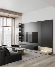 Living Room Modern, Home Living Room, Interior Design Living Room, Living Room Designs, Interior Design Games, Luxury Interior Design, Tv Console Design, Tv Feature Wall, Black And White Living Room