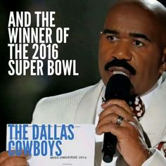 Oohhhhhhhh! Aw man! The Dallas Cowboys didn't even make it into the 2016 Superbowl! This totally would be their dream, but they need to get better!