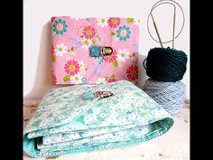 Mettez de l'ordre dans vos aiguilles à tricoter circulaires avec cette jolie pochette molletonnée! A l'intérieur, 8 compartiments permettent de ran... Sewing, Diy, Ranger, Leftover Fabric, Fabric Bags, Circular Needles, Tutorial Sewing, Dressmaking, Couture