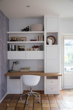 Trendy Home Office Guest Room Apartment Office Nook, Guest Room Office, Home Office Space, Home Office Desks, Office Decor, Workspace Desk, Room Interior, Interior Design Living Room, Interior Livingroom