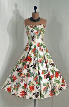 1950s dress via Timeless Vixen Vintage