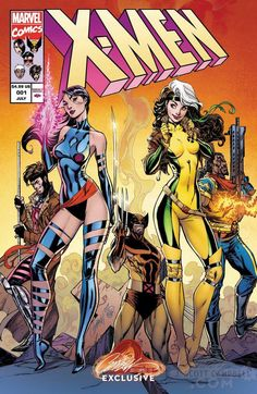 Astonishing X-Men #1 Cover B X-Men '92 Retro by J. Scott Campbell and colours by Sabine Rich and Peter Steigerwald *