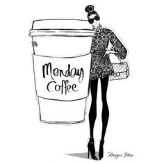 Monday coffee graphic