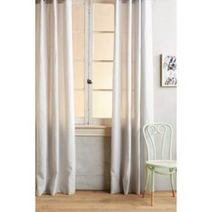Anthropologie Linen Grommet Curtain ($78) ❤ liked on Polyvore featuring home, home decor, window treatments, curtains, curtain, light grey, anthropologie home decor, woven curtains, linen drapery and light gray curtains