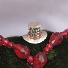 New Year Hat - redbalifrog Beads.  Gift from mom.