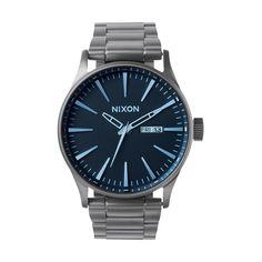 Relógio NIXON Sentry SS - A356-1427   Bluebird Blue Crystals, Quartz  Crystal, 0ee90a6144