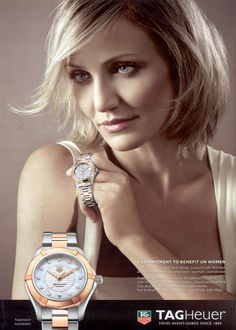 Tad Heuer Ad: Tag Heuer and Cameron Diaz support UN Women and its mission to empower women worldwide.