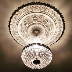 Diameter A beautiful rose for ceiling heights of approximately 3 metres. Ceiling Rose, Ceiling Lights, Victorian House, Ceiling Design, Beautiful Roses, Plaster, Dining Room, Lighting, Grey