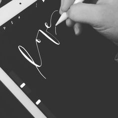 Love you, mean it . . iPad Pro with Apple Pencil. Procreate App. Calligraphy Pen tool.