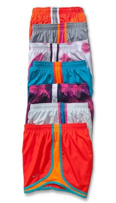 Nike Tempo Track Women's Running Shorts A different color for everyday of the week.// Now new clothes could definitely get me in the running spirit for the half.