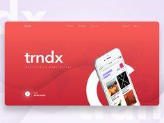 """trendx""- App Landing Page Concept"