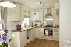 fresh kitchen with vintage styling