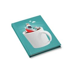 Captain Monday Journal - Blank Coffee Lover Gifts, Coffee Lovers, Love Mondays, Hate Mornings, Abandoned Ships, Morning Love, Blank Journal, Everything Is Fine, Self Design