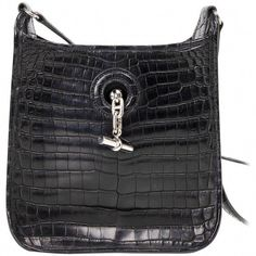eae3b9e21703 View this item and discover similar crossbody bags and messenger bags for  sale at - Rare Hermes TPM Vespa in jet black matte crocodile. Rare to find  in ...