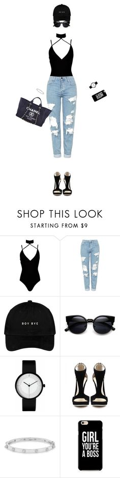 """Boy bye "" by hevsyblue2 ❤ liked on Polyvore featuring Boohoo, Topshop, Chanel, Anne Sisteron and modern"