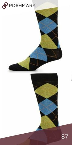 Saks Fifth Avenue Casual Argyle Socks A classic Argyle pattern in a comfortable cotton blend, mid-calf height, fits 10-13, combed cotton/nylon. Saks Fifth Avenue Underwear & Socks Casual Socks