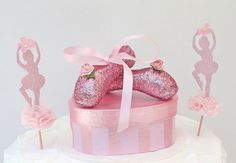 Pink Ballerina Cake Topper - Centerpiece - Gift Box.  Has already sold, you'll need to make your own.