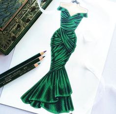 Trendy fashion drawing dresses sketches haute couture ideas dress fashion illustration sketch ideas for 2019 dress fashion Dress Design Sketches, Fashion Design Sketchbook, Fashion Design Drawings, Fashion Sketches, Drawing Sketches, Drawing Ideas, Set Fashion, Fashion Art, Trendy Fashion
