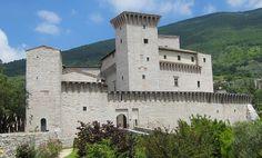 """13th century castle called """"Rocca Flea"""" in Gualdo Tadino, Umbria, Italy"""