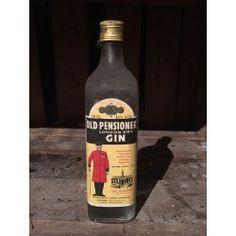 London Dry Gin Old Pensioner Le Gin, London Dry Gin, Corona Beer, Beer Bottle, Vodka, Spirit, Antique, Drinks, Drinking
