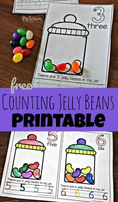 FREE Counting Jelly Beans Early Reader - these free printable math worksheets h. - Preschool - FREE Counting Jelly Beans Early Reader – these free printable math worksheets help preschool and - Easter Activities For Preschool, Preschool Writing, Numbers Preschool, Free Preschool, Preschool Printables, Preschool Worksheets, Preschool Activities, Easter Worksheets, Free Printable Math Worksheets