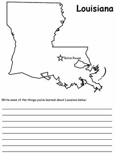 United States state symbols printables