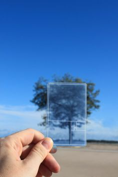 The Golden Section Finder, designed for Areaware, is a thin, pocket sized card that helps you locate proportional perfection (Golden Ratio) anywhere.