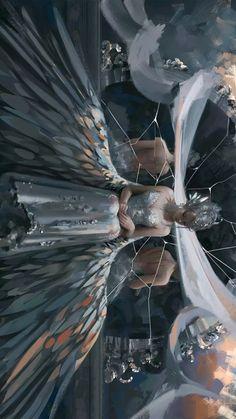 Fantasy Art Angels, Dark Fantasy Art, Fantasy Artwork, Pretty Art, Cute Art, Yandere Simulator Characters, Illustrations, Illustration Art, Anime Flower