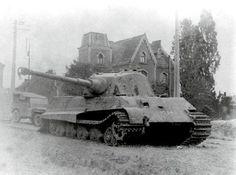 Tiger Ii, Army Vehicles, Armored Vehicles, Mons Belgium, German Soldiers Ww2, Tank Armor, Military Armor, Tiger Tank, Ww2 Photos