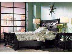 aspenhome King Sleigh Bed (non-storage) I88-404-2/405-2/406-2